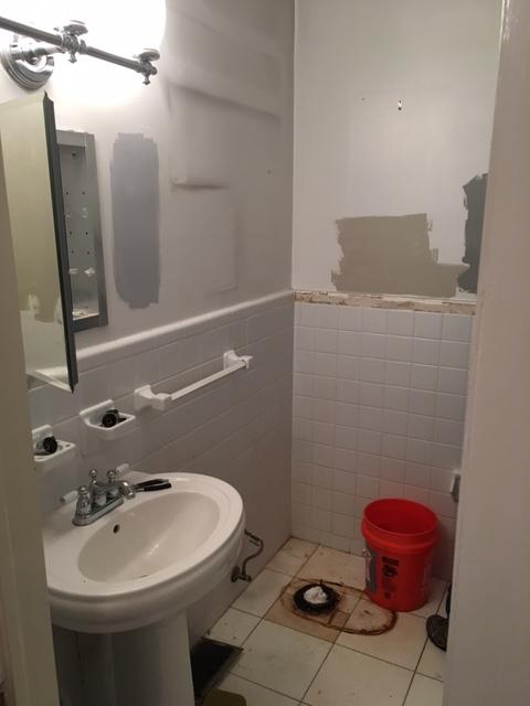 demolition of bathroom space