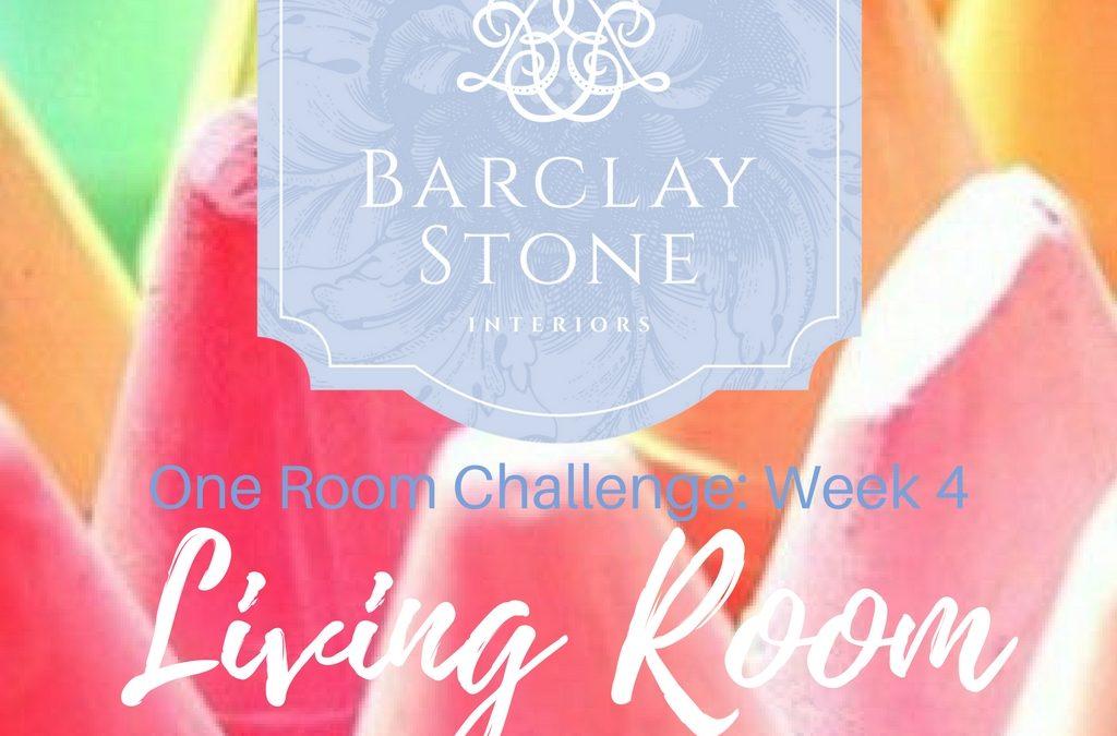 One Room Challenge:  Week 4 already?