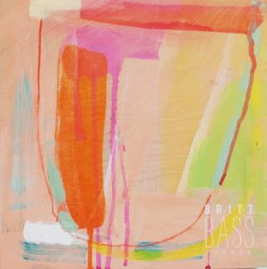 emerging artist Britt Bass Turner's contemporary works to be found at Gregg Irby Fine Art