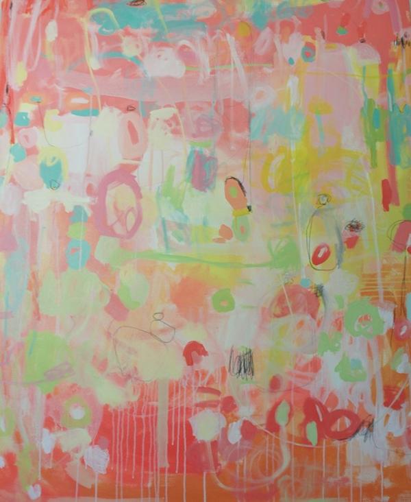 "emerging artist Michelle Armas's contemporary piece ""Splendid Summer"" found at Gregg Irby Fine Art"