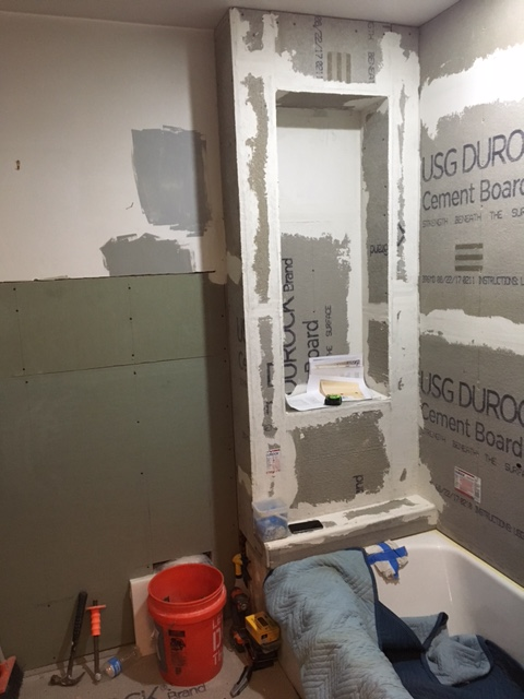 shower area with new niche