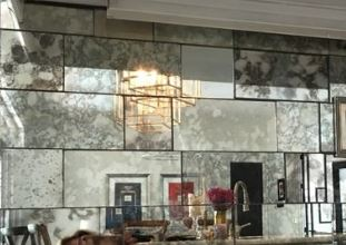mirror subway tiles